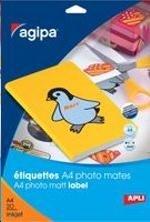 Etiquettes photos mates coins arrondis format 210x297mm par 20 étiq