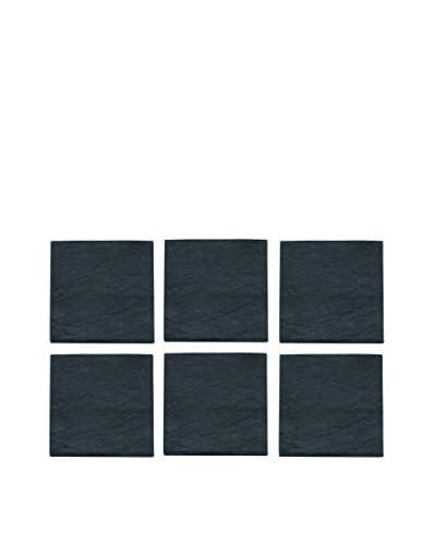 Pordamsa Set of 6 Square Natural Slate Coasters