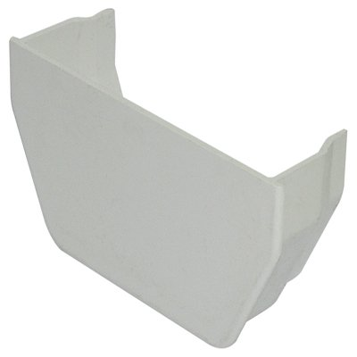 Square Gutter Internal Stop End White