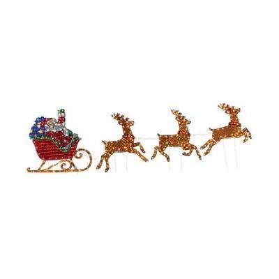 lighted holographic santa sleigh holiday. Black Bedroom Furniture Sets. Home Design Ideas