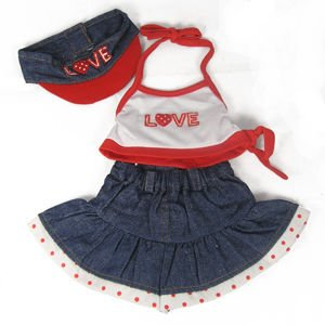 1819 - Love Halter Top & Skirt with Visor Clothes for 14