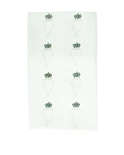 Canvas Home White Beet Tea Towel
