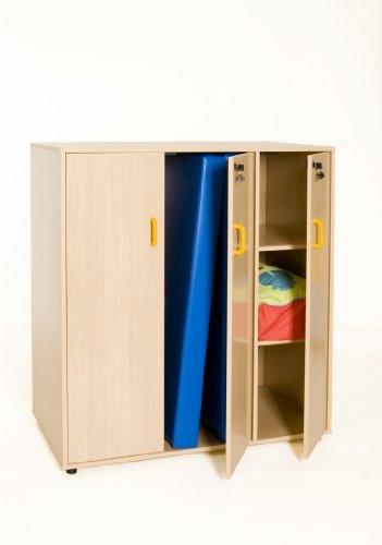 Matratzenschrank Kidz Pro für Matratzen bis 120 cm rot