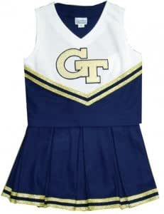 Georgia Tech Yellow Jackets NCAA College Custom Youth Cheerleading Outfit- Size 18