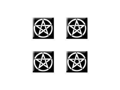 Pentagram - Set of 4 Badge Stickers