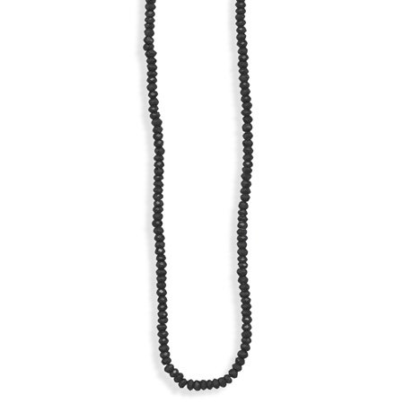 Faceted Black Spinel Bead Necklace