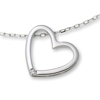 Miore Diamond Necklace, Diamond Heart Pendant, 42cm Chain, M0836CW