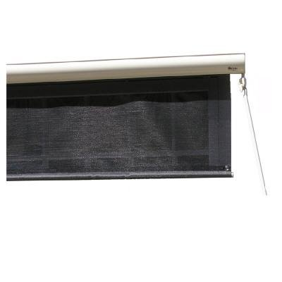 4' Cream SunSetter EasyShade with Charcoal Fabric