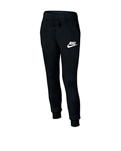 Nike Pantalón de Chándal G Nsw Mdrn Pant Reg Negro / Blanco