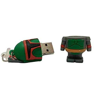 Hitkart USB Flash Drive New Style Star Wars Boba Fett P36-16GB Storage Device USB 2.0 or Higher