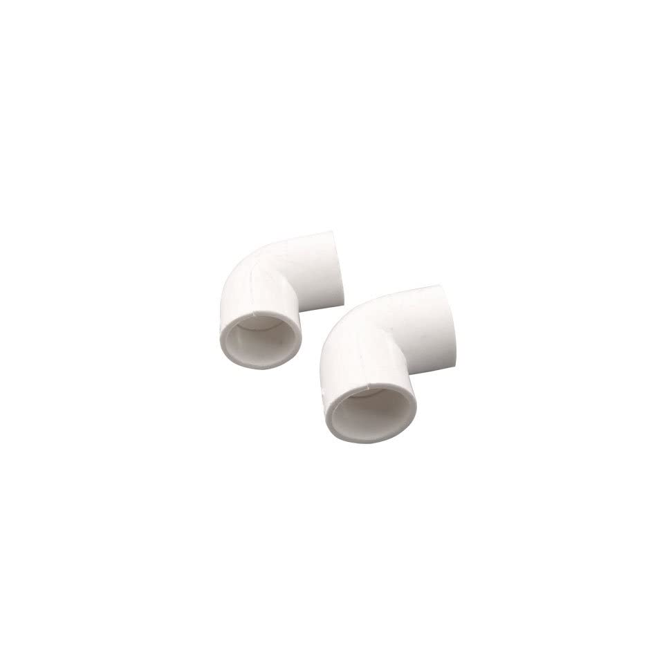 5 x 20mm Slip 90 Degree PVC U Pipe Fitting Equal Coupling Elbow Connector