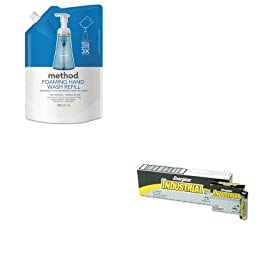 KITEVEEN91MTH00667 - Value Kit - Method Foaming Hand Wash Refill (MTH00667) and Energizer Industrial Alkaline Batteries (EVEEN91)