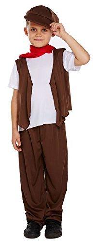 Jungen 5 Stück Arme Viktorianisch Schornsteinfeger Kostüm Kleid Outfit 4-12 jahre - 4-6 Jahre