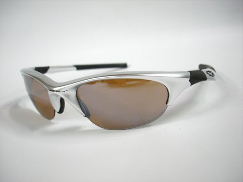 "OAKLEY SUNGLASS ""HALF JACKET"" POLISHED ALUMINUM / TITANIUM IRIDIUM"
