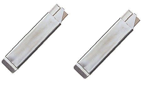 2 Piece Single Edge Razor Blade Carton Cutter - Box Cutter Knife - All Metal Tap Knife - Retractable And