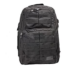 3cbb26d12fa 5.11 Tactical Backpacks 1 Day Rush 1 SZ Flexible Main Storage Compartments  Internal Dividers Black New: Sports & Outdoors