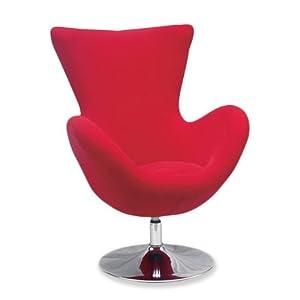Relax tissu fauteuil rembourre' salon chaise rouge design