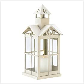 STEEPLE CANDLE LANTERN WEDDING DECORATIVE CENTERPIECE
