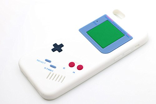 Iphone 6 [4.7 Inch] Gameboy Design Case. Iphone 6 Case Made Of Rubber Skin Silicone. Bonus: Transparent Clear Lcd Screen Protector Guard