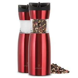 Wolfgang Puck Salt And Pepper Gravity Mills Set - Red