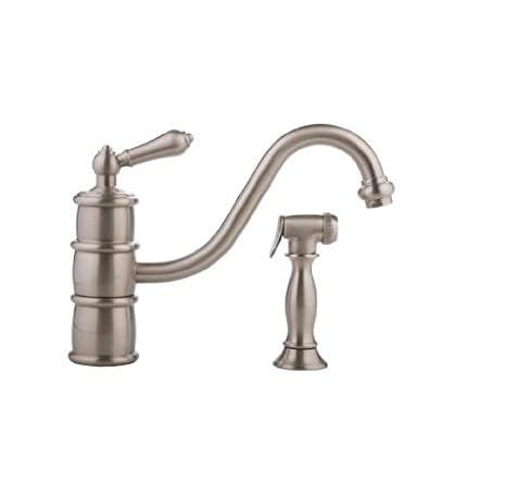Graff G-4720-LM9-SN Prescott Kitchen Faucet with Side Spray, Satin Nickel