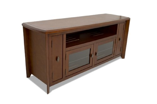 TechCraft 64-Inch Hi-Boy TV Credenza and Media Console, No Tools Required, Walnut photo