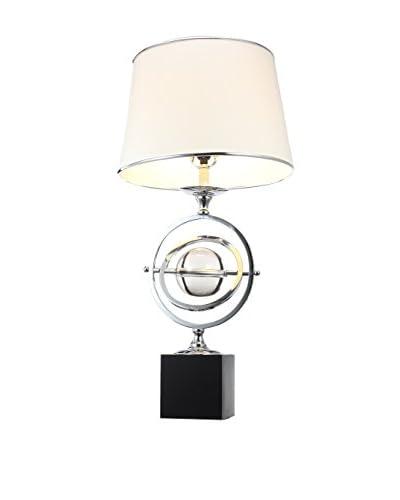 A & B Home Orbit Table Lamp, White