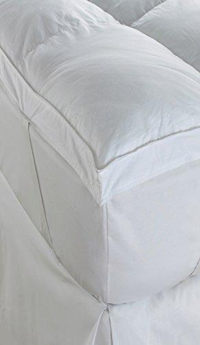 soft as down dual layer soft microfibre mattress topper ebay. Black Bedroom Furniture Sets. Home Design Ideas
