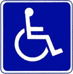 Amazon.com : Metal traffic Sign: Square Sign - Handicap Symbol, Size
