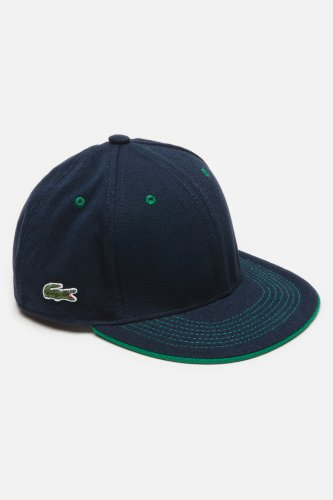 L!VE Mens Cotton Pique Flat Brim Cap