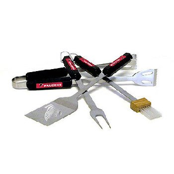 Nfl 4-Piece BBQ Set: Atlanta Falcons [9 Pieces] *** Product Description: Nfl 4-Piece BBQ Set: Atlanta Falconstailgating Never Looked So Good! This Stainless Steel BBQ Set Is A Perfect Way Of Showing Your Team Pride On Game Day. Each Utensil Is Pr ***