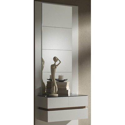 Wandeinheit Derby Farbe: Walnuss & Weiß, Größe: 203 cm H x 96 cm B x 28.5 cm T