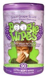 Boogie Wipes Canister 90-ct. Saline Nose Wipes Great Grape Scent