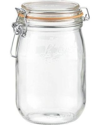 Le Parfait French Glass Canning Jar with 85mm Gasket and Lid - 1 Liter