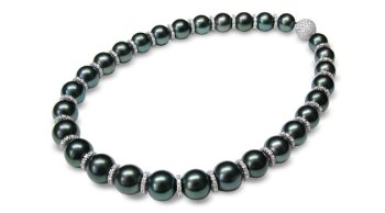 12 x 14mm black Tahitian south sea cultured pearl