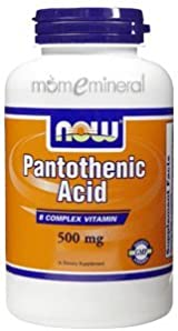 Pantothenic Acid 500 mg 100 Capsules by NOW Foods