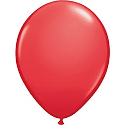 Standard Color Balloons, Red, 11, Package of 100