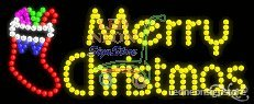 Merry Christmas Led Sign 11 Inch Tall X 27 Inch Wide X 3.5 Inch Deep Outdoor ...