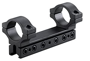 BKL 1-Pc Mount, 4 Long, 1 Rings, 3/8 or 11mm Dovetail, 6 Base Screws, .007 Drop Compensation, Matte Black