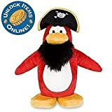 "Rare Disney Club Penguin Jumbo 10"" Captain Rockhopper Plush + Special Coin Unlocks ""2"" Treasure Book Items You..."