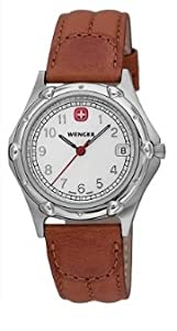 Wenger Men's 70100 Standard Issue White Dial Brown Leather Strap Watch