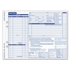 ** Auto Repair Four-Part Order Form, 8 1/2 x 11, Four-Part Carbonless, 50 Forms **