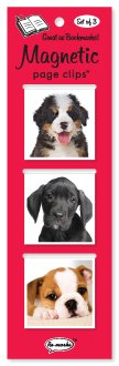 Puppies Magnetic Page Clips Trio By Re marks