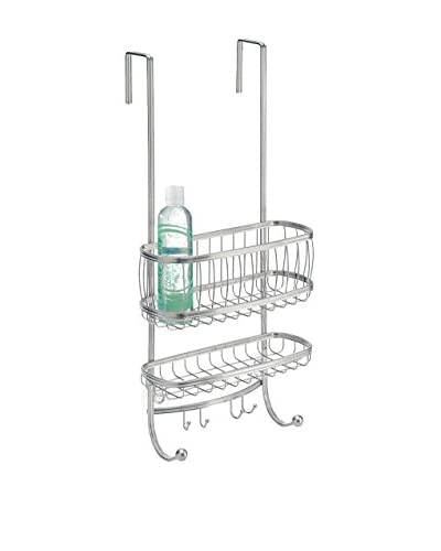 InterDesign York Over Door Shower Caddy, Silver