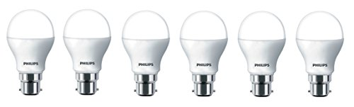Philips 6W B22 LED Bulb (Cool Day Light, Pack of 6)