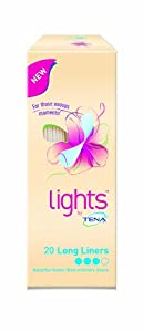 TENA Lights Long Liner - 4 x Packs of 20 ( 80 liners )