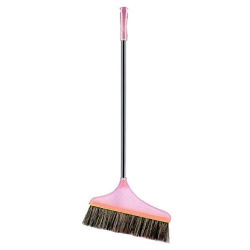 Koolee Remover Broom with Non-Slip Metal Handle, Soft Animal Bristles Head Angle Broom 1-1/2
