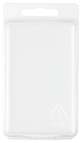 Clear Plastic Clamshell Package / Storage Container, 3.69