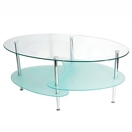 Walker Edison 38-Inch Wave Oval Coffee Table: Amazon.ca: Home & Kitchen