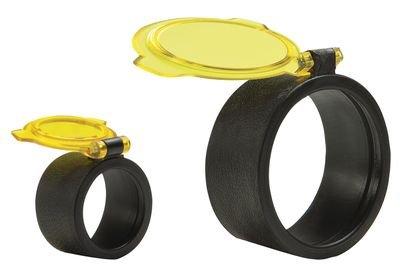 Blackpowder Products Bushwaker 270 Degree Optic Covers And See-Thru Binocular, Amber, Size 4 Scope